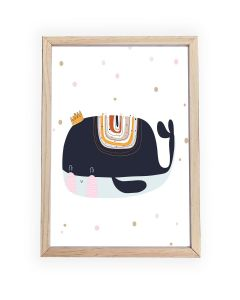 Whale Crown Framed, Hanging or Print