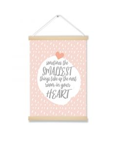 Smallest Heart Pink Hanging Picture