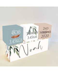 Feather Green Wooden Birth Block Set