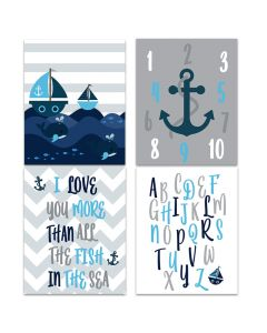 Nautical Grey Downloadable Print Yourself A4