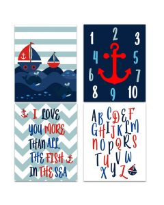 Nautical Red Downloadable Print Yourself A4