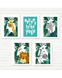 Hidden Jungle Print Set Multiple Print Choices