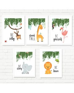 Jungle Quote Print Set Multiple Print Choices