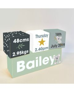 Koala Australian Wooden Birth Block Set