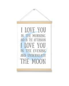 Love you in the Morning Hanging Picture