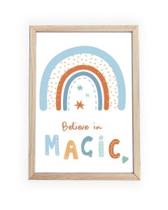 Believe in Magic Blue  Framed, Hanging or Print