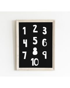 Monochrome Number Print Bedroom & Nursery Decor