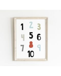 Number Print Bedroom & Nursery Decor