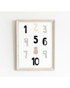 Pastel Number Print Bedroom & Nursery Decor