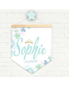 Personalised Hanging Pendant Floral Crown