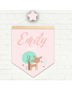 Personalised Hanging Pendant Deer Woodland