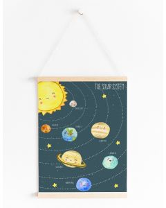 Solar System Educational Print Bedroom & Nursery Decor