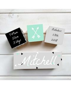 ModernTriangle Birth Block Set