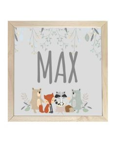 Wooden Framed Sign  Name Plaque Woodland Crew