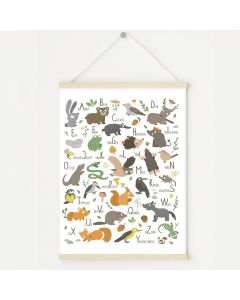 Woodland Alphabet Print Bedroom & Nursery Decor
